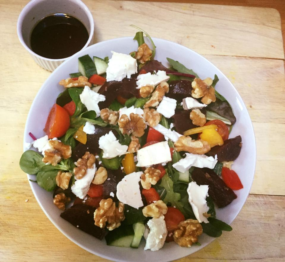 Goats Cheese, Beetroot & Walnut Salad - The Rural Lunch ...